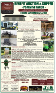 PSALM 51 RANCH BENEFIT AUCTION & SUPPER